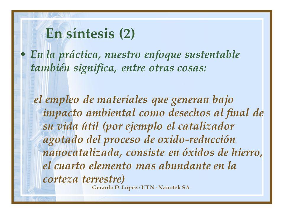 Gerardo D. López / UTN - Nanotek SA