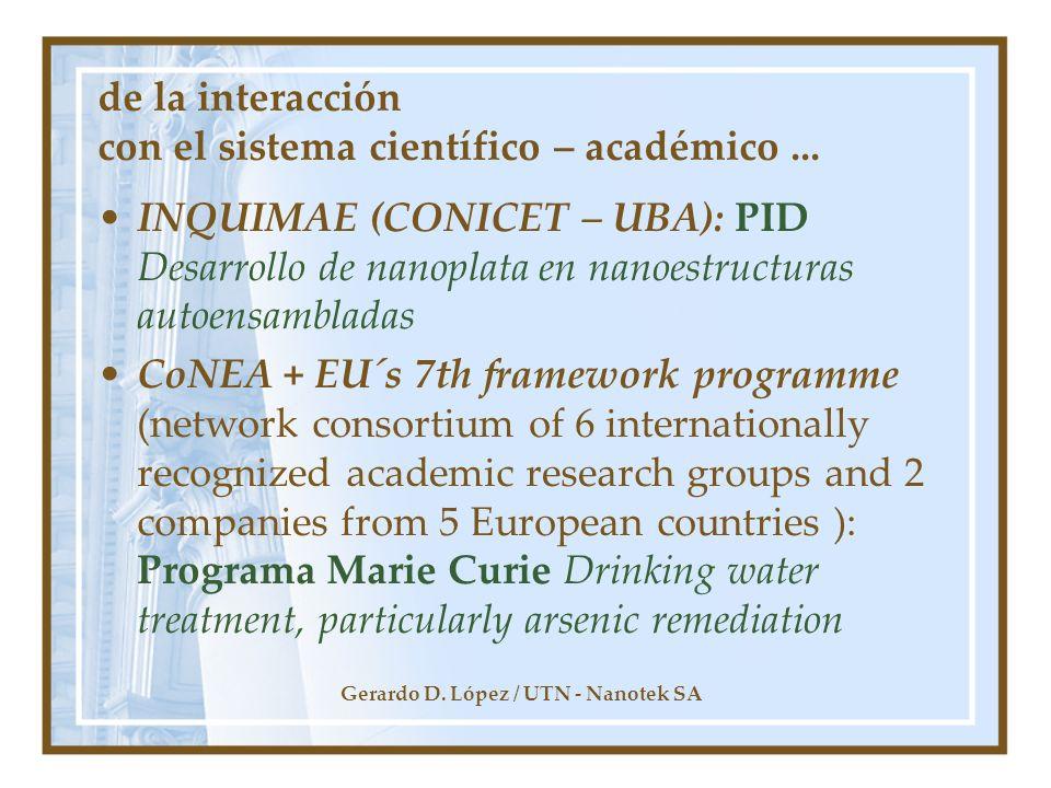 de la interacción con el sistema científico – académico ...
