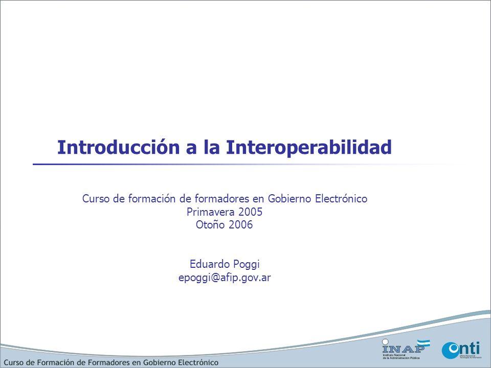 Introducción a la Interoperabilidad
