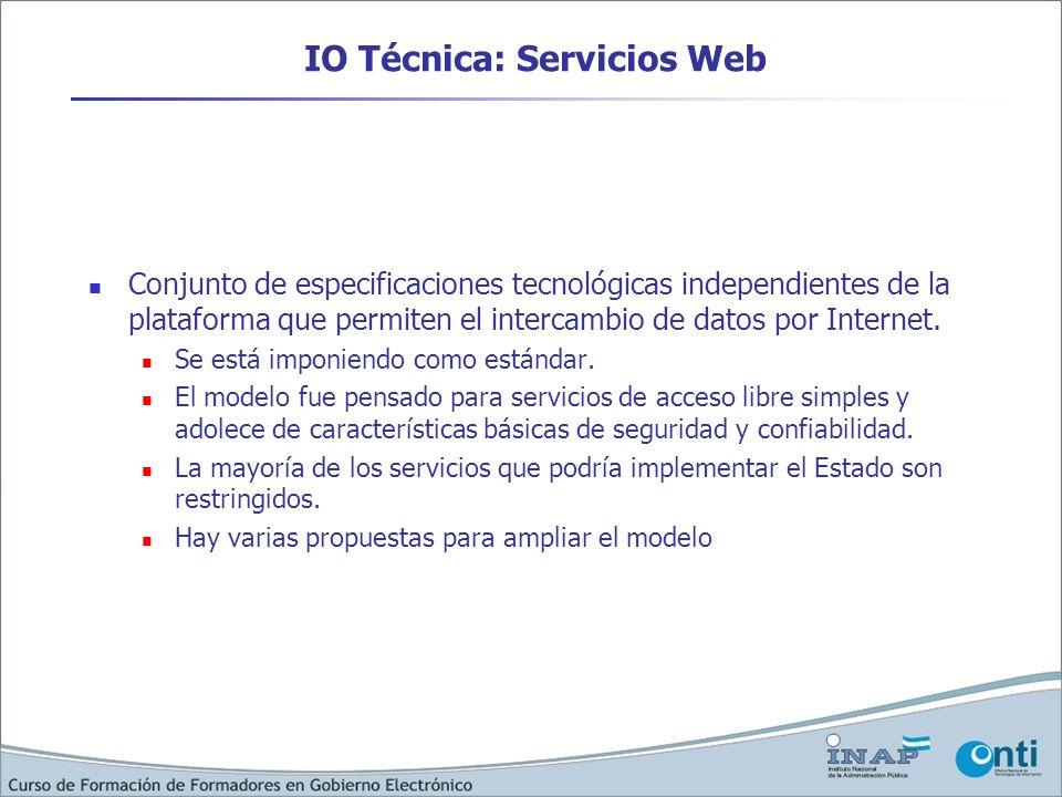 IO Técnica: Servicios Web