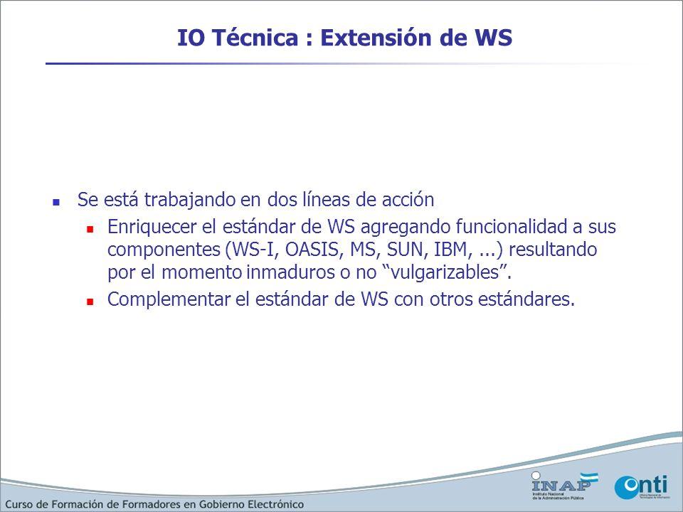 IO Técnica : Extensión de WS