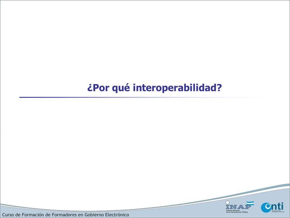 ¿Por qué interoperabilidad