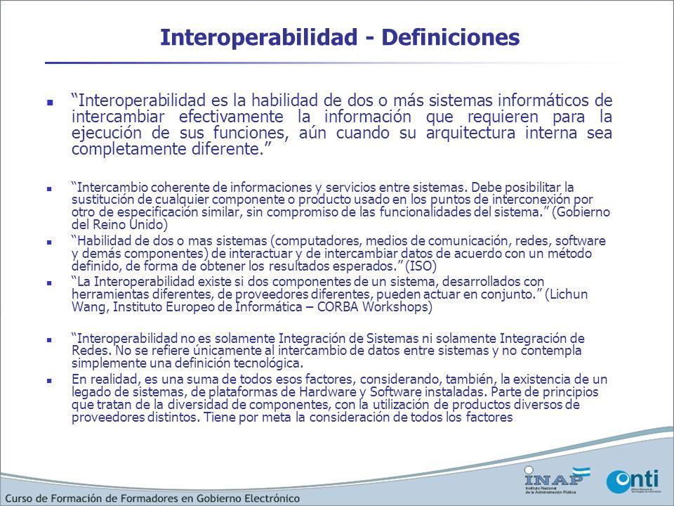 Interoperabilidad - Definiciones