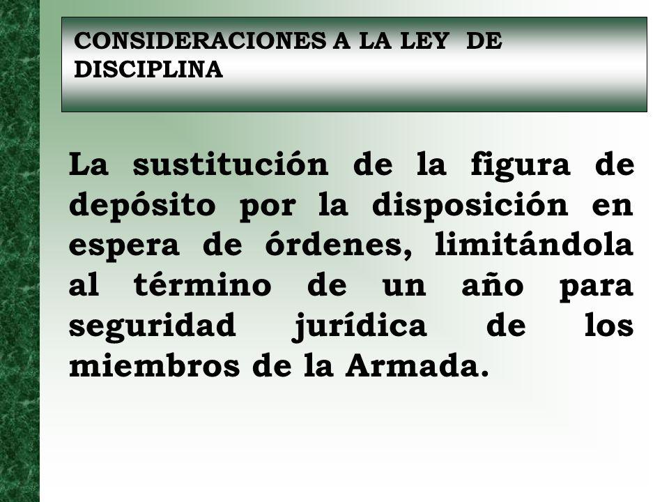 CONSIDERACIONES A LA LEY DE DISCIPLINA