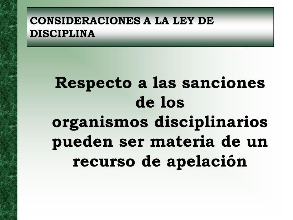 Respecto a las sanciones de los
