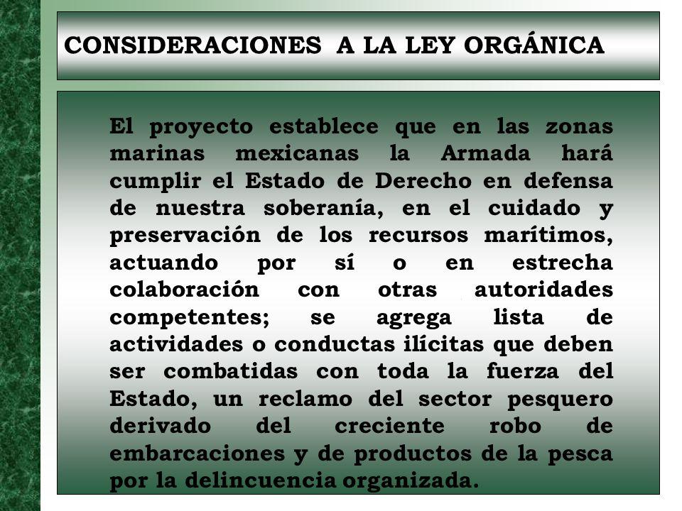 CONSIDERACIONES A LA LEY ORGÁNICA