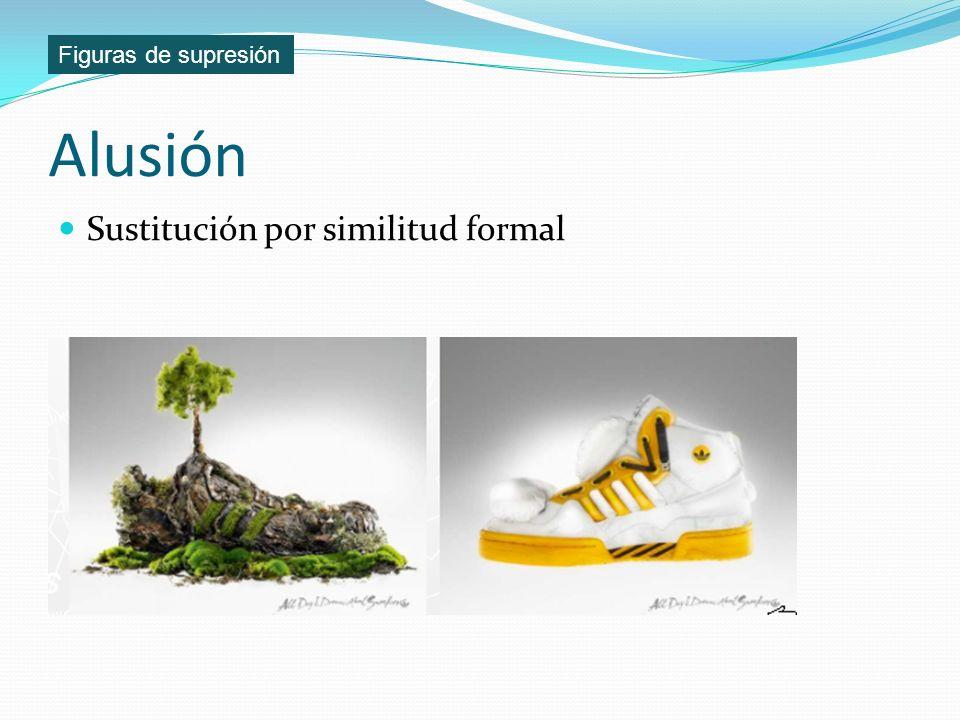 Figuras de supresión Alusión Sustitución por similitud formal