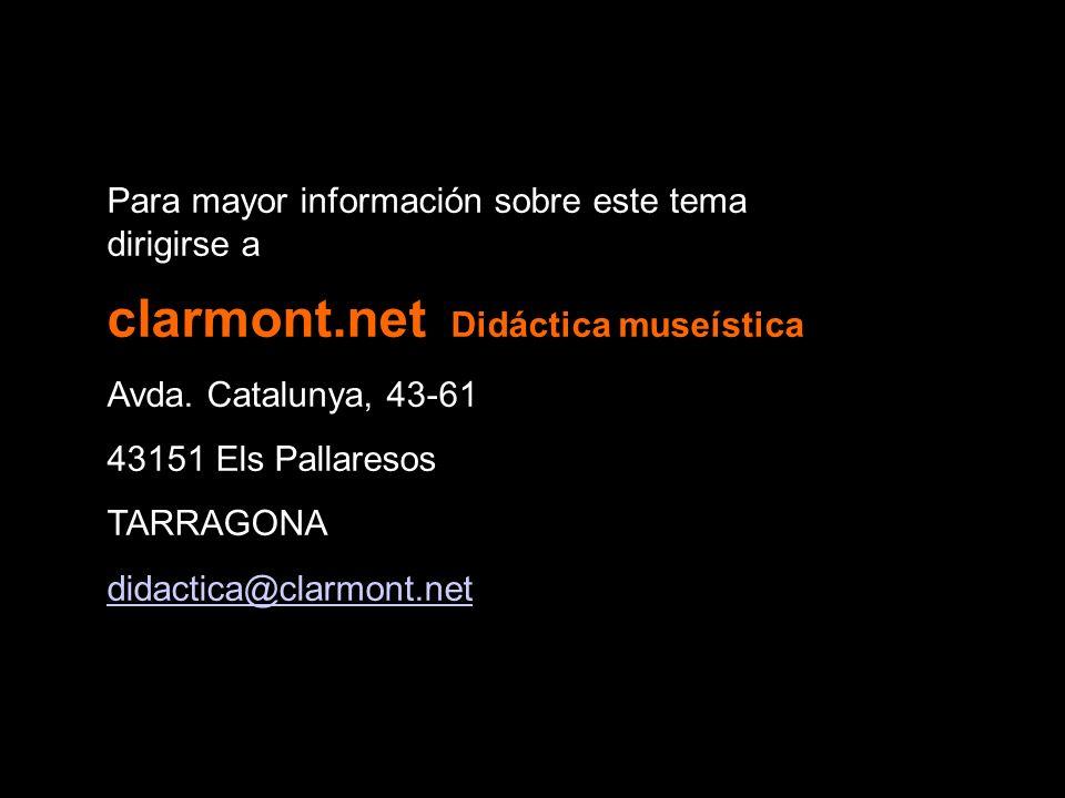 clarmont.net Didáctica museística