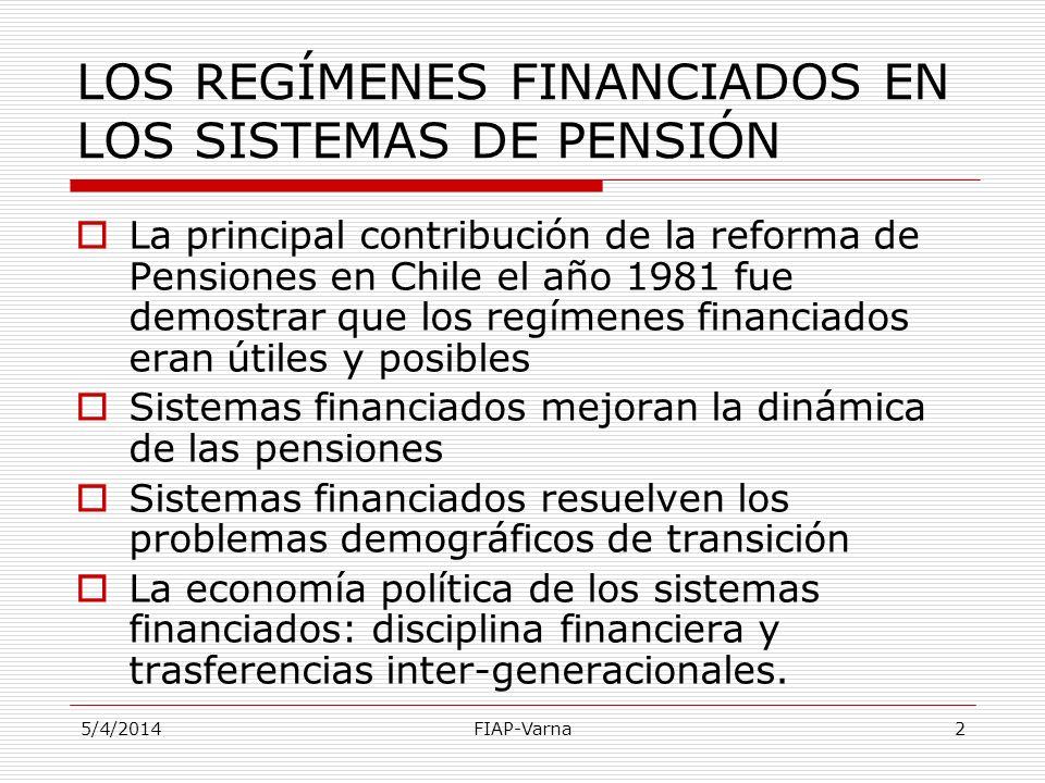 LOS REGÍMENES FINANCIADOS EN LOS SISTEMAS DE PENSIÓN