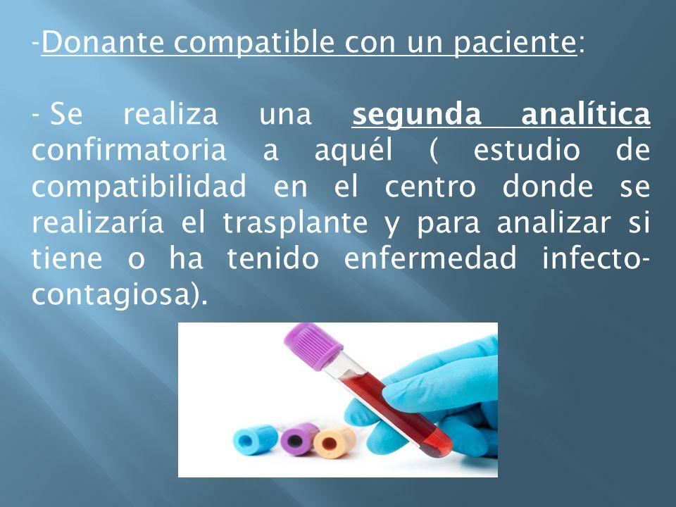 Donante compatible con un paciente: