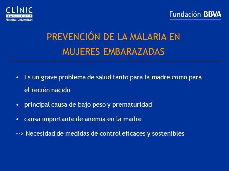 PREVENCIÓN DE LA MALARIA EN MUJERES EMBARAZADAS