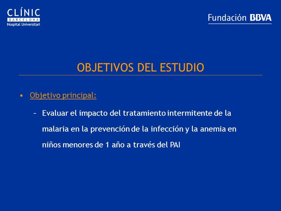 OBJETIVOS DEL ESTUDIO Objetivo principal:
