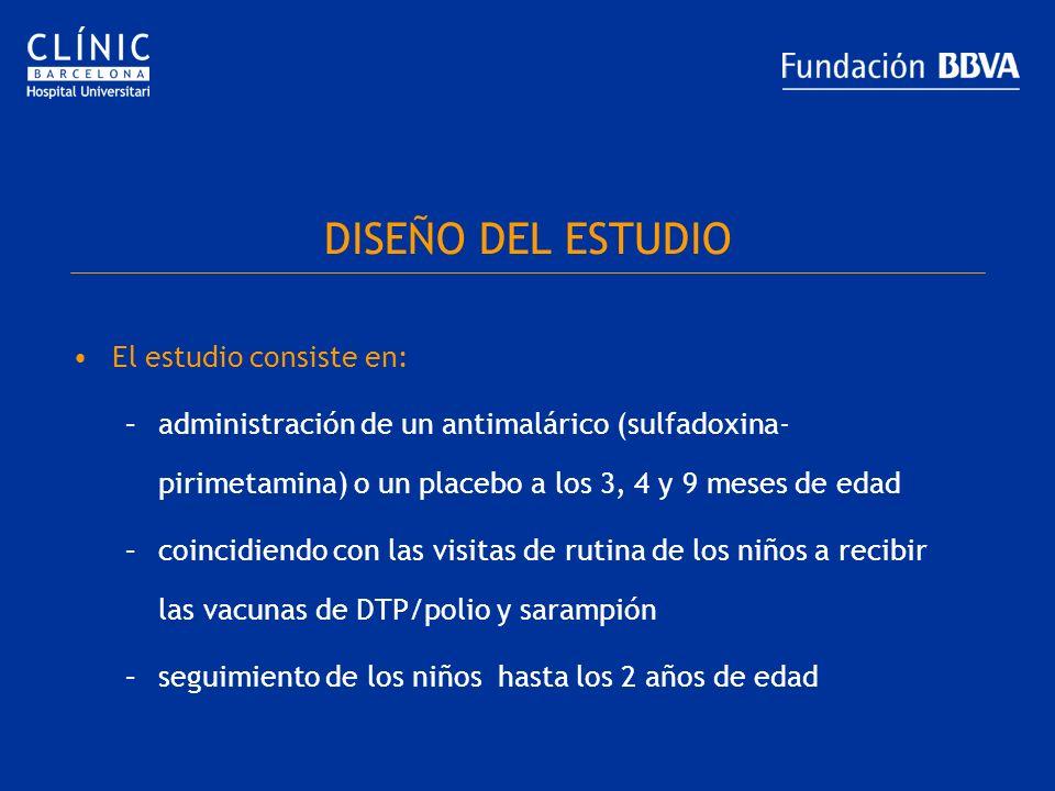 DISEÑO DEL ESTUDIO El estudio consiste en: