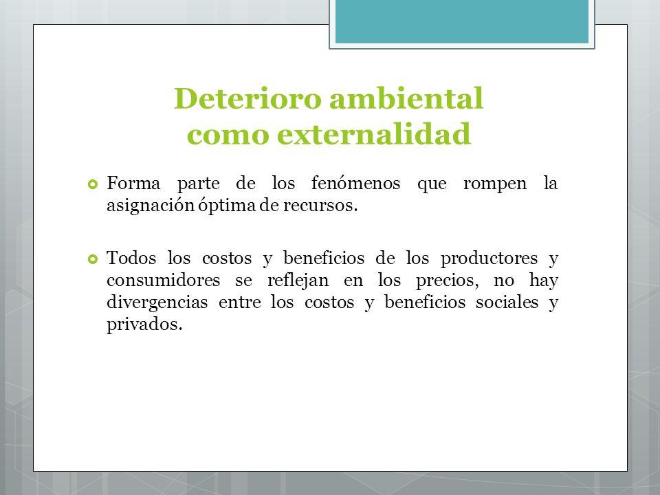 Deterioro ambiental como externalidad