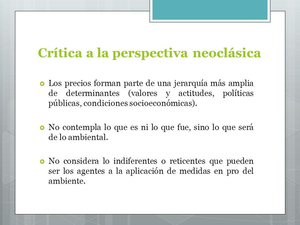 Crítica a la perspectiva neoclásica