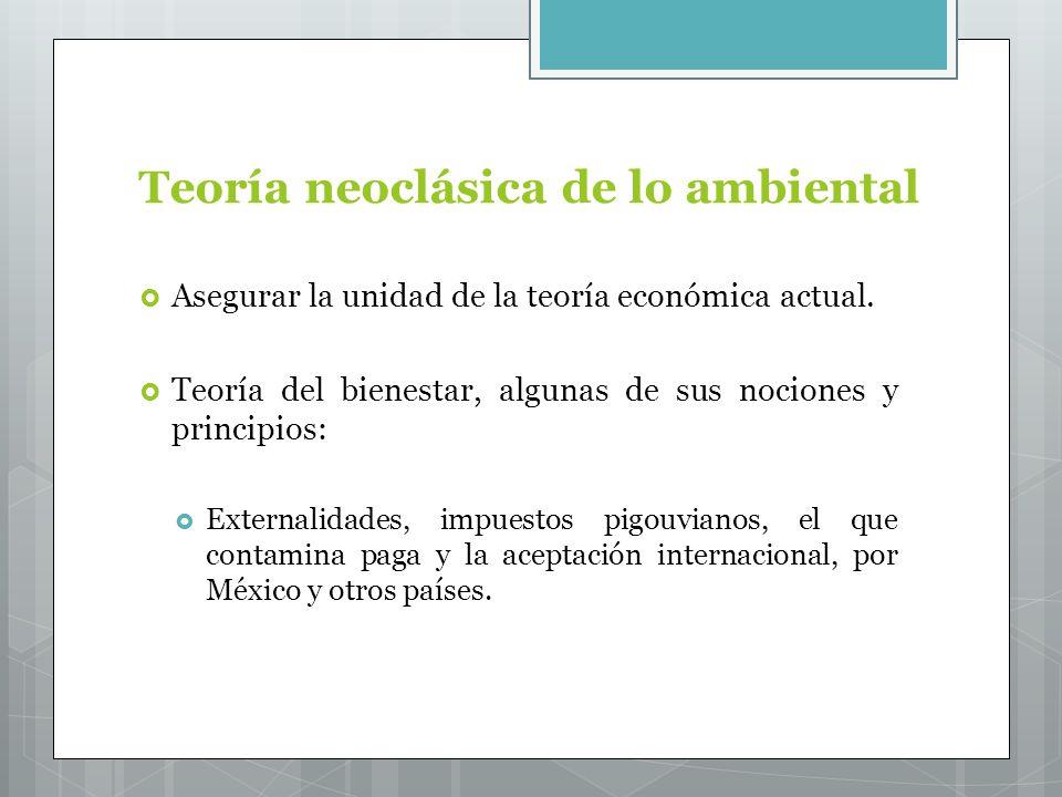 Teoría neoclásica de lo ambiental