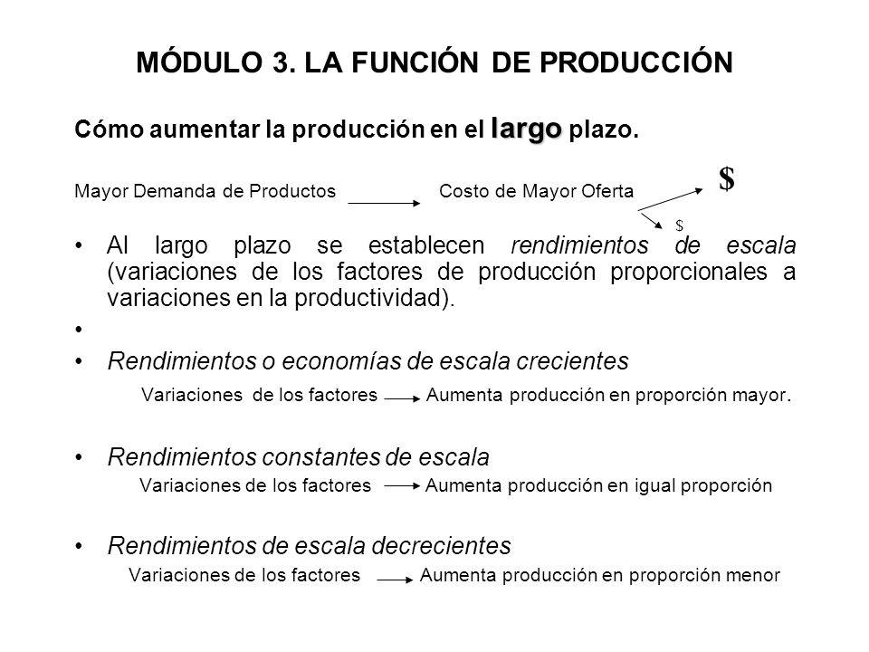 MÓDULO 3. LA FUNCIÓN DE PRODUCCIÓN