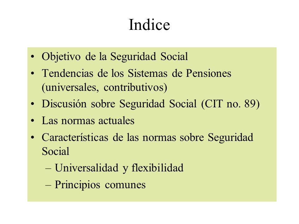 Indice Objetivo de la Seguridad Social