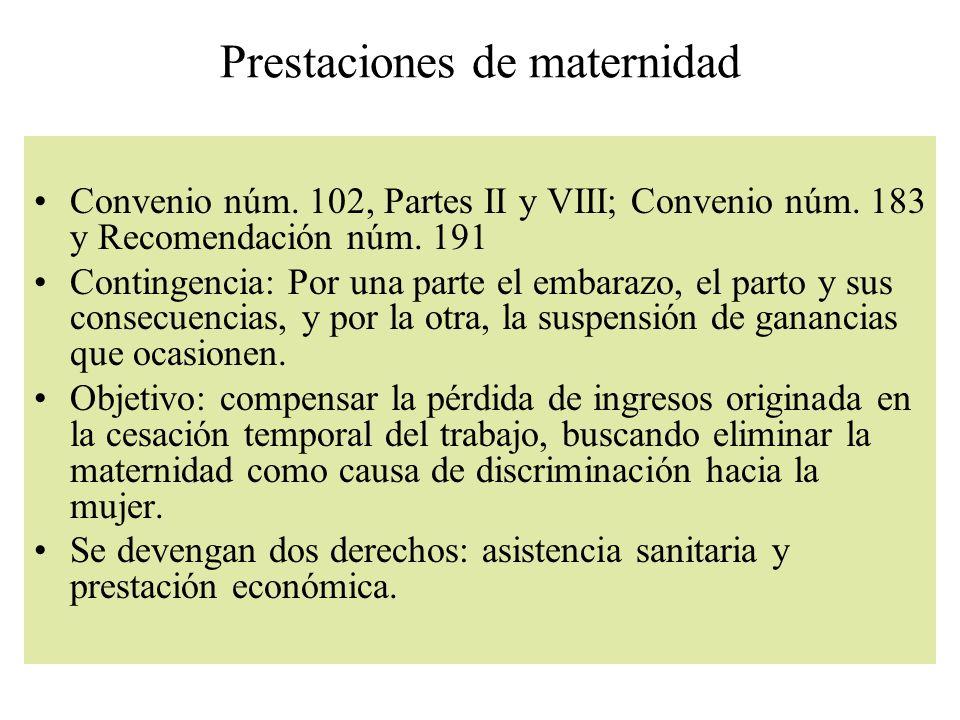 Prestaciones de maternidad