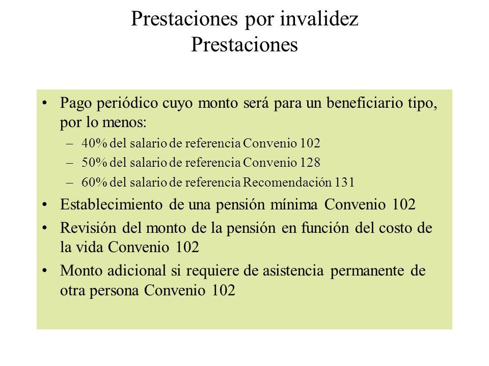 Prestaciones por invalidez Prestaciones