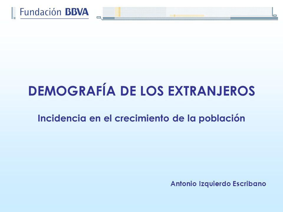 DEMOGRAFÍA DE LOS EXTRANJEROS