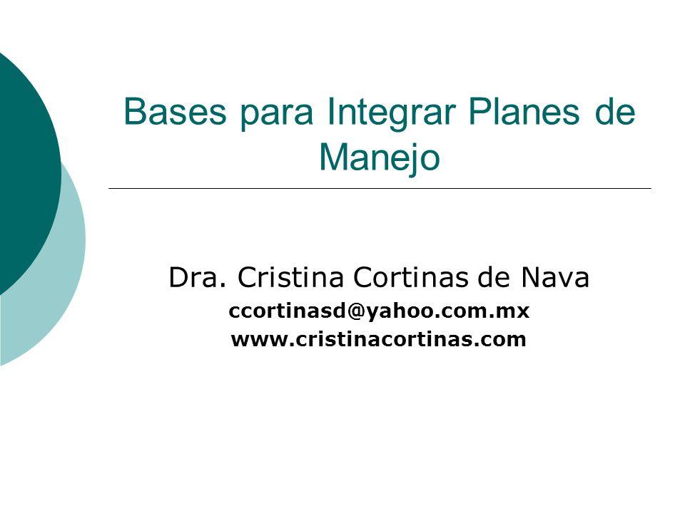 Bases para Integrar Planes de Manejo
