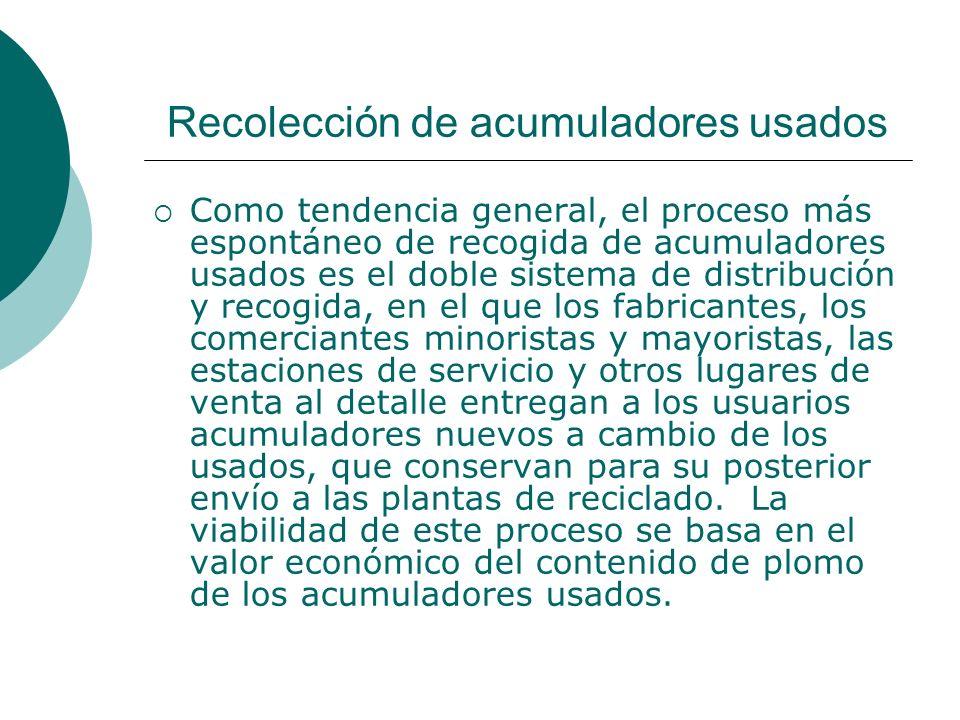 Recolección de acumuladores usados
