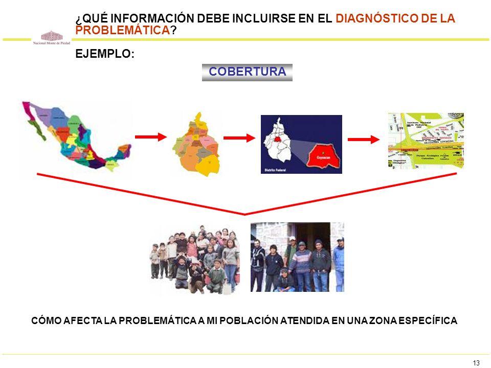 ¿QUÉ INFORMACIÓN DEBE INCLUIRSE EN EL DIAGNÓSTICO DE LA PROBLEMÁTICA