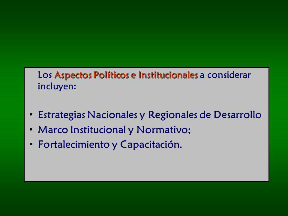 Estrategias Nacionales y Regionales de Desarrollo