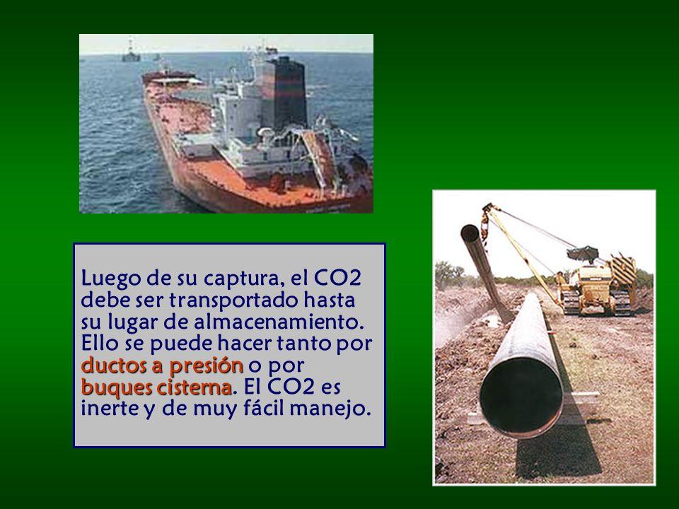 Luego de su captura, el CO2 debe ser transportado hasta su lugar de almacenamiento.