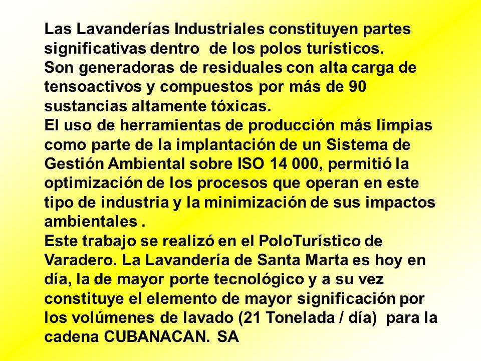 Las Lavanderías Industriales constituyen partes significativas dentro de los polos turísticos.