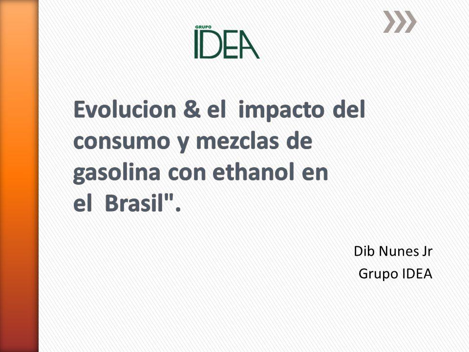 Evolucion & el impacto del consumo y mezclas de gasolina con ethanol en el Brasil .