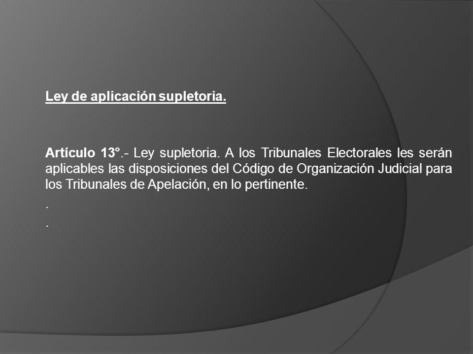 Ley de aplicación supletoria.