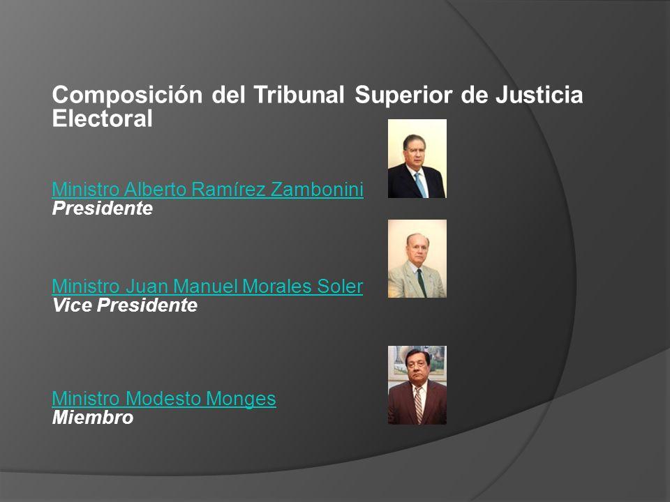 Composición del Tribunal Superior de Justicia Electoral