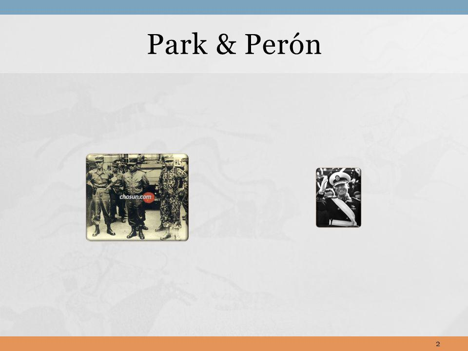 Park & Perón Podemos sentirnos fuerza de los hombres, no