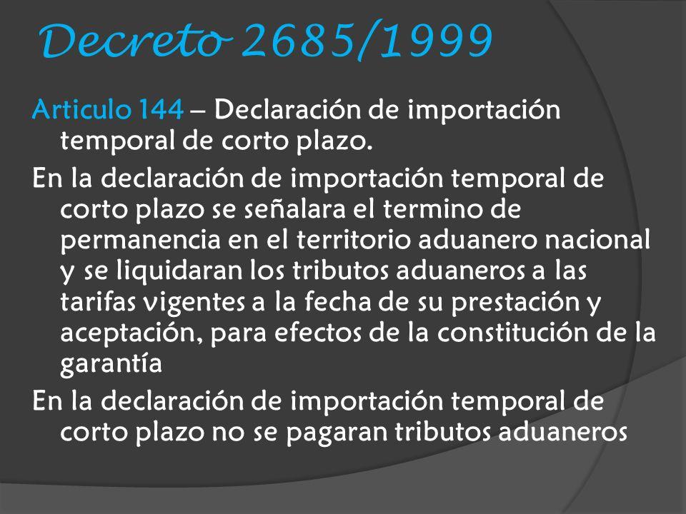 Decreto 2685/1999