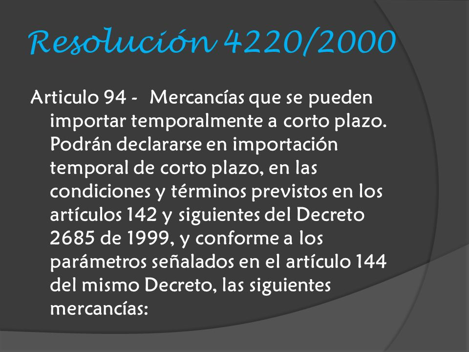 Resolución 4220/2000