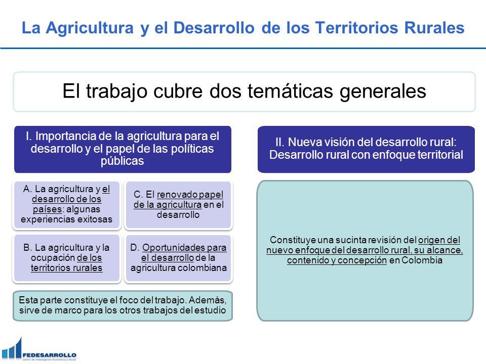 La Agricultura y el Desarrollo de los Territorios Rurales