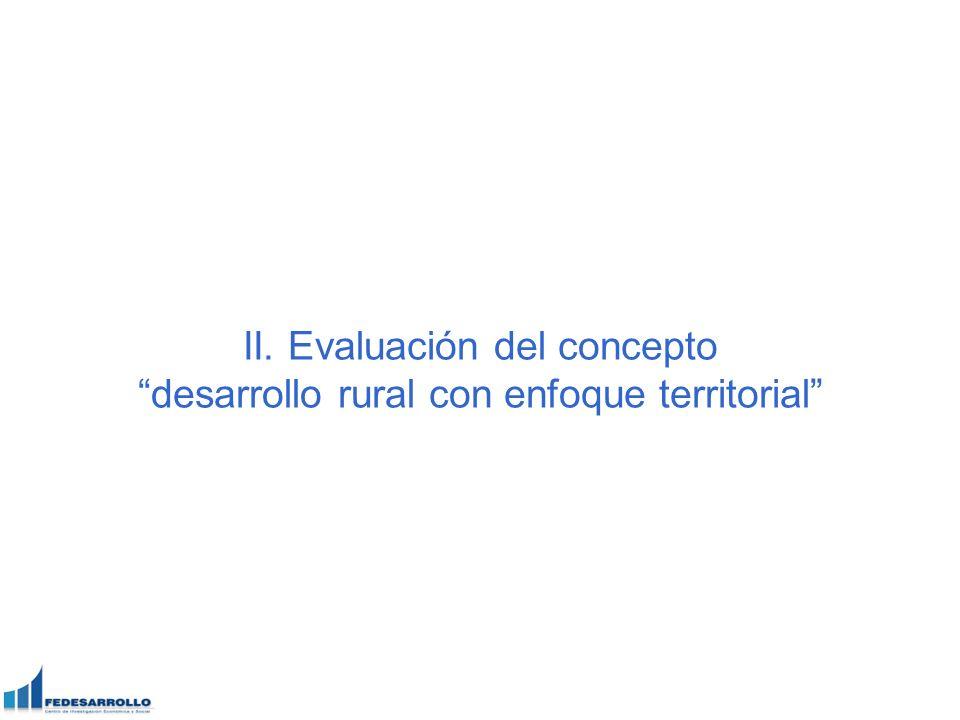 II. Evaluación del concepto desarrollo rural con enfoque territorial