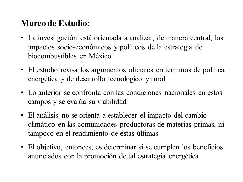Marco de Estudio: