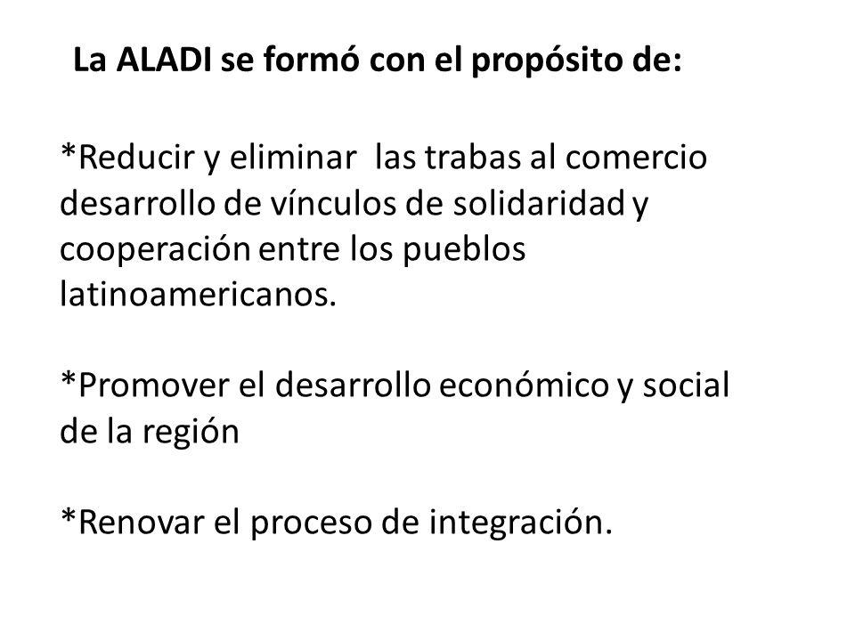 La ALADI se formó con el propósito de: