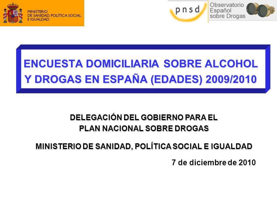 ENCUESTA DOMICILIARIA SOBRE ALCOHOL Y DROGAS EN ESPAÑA (EDADES) 2009/2010
