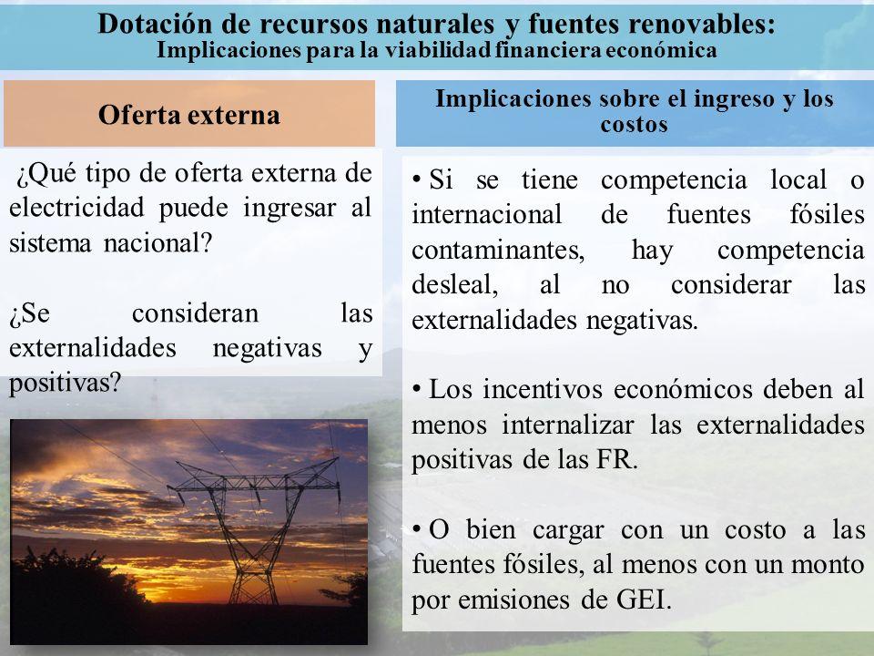 Dotación de recursos naturales y fuentes renovables: