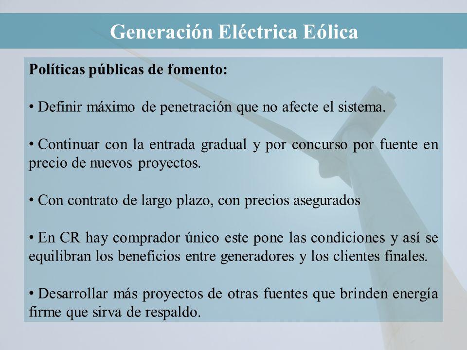 Generación Eléctrica Eólica