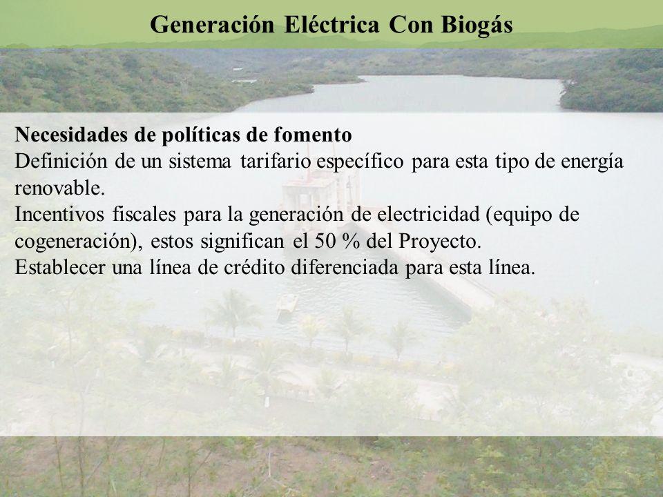 Generación Eléctrica Con Biogás