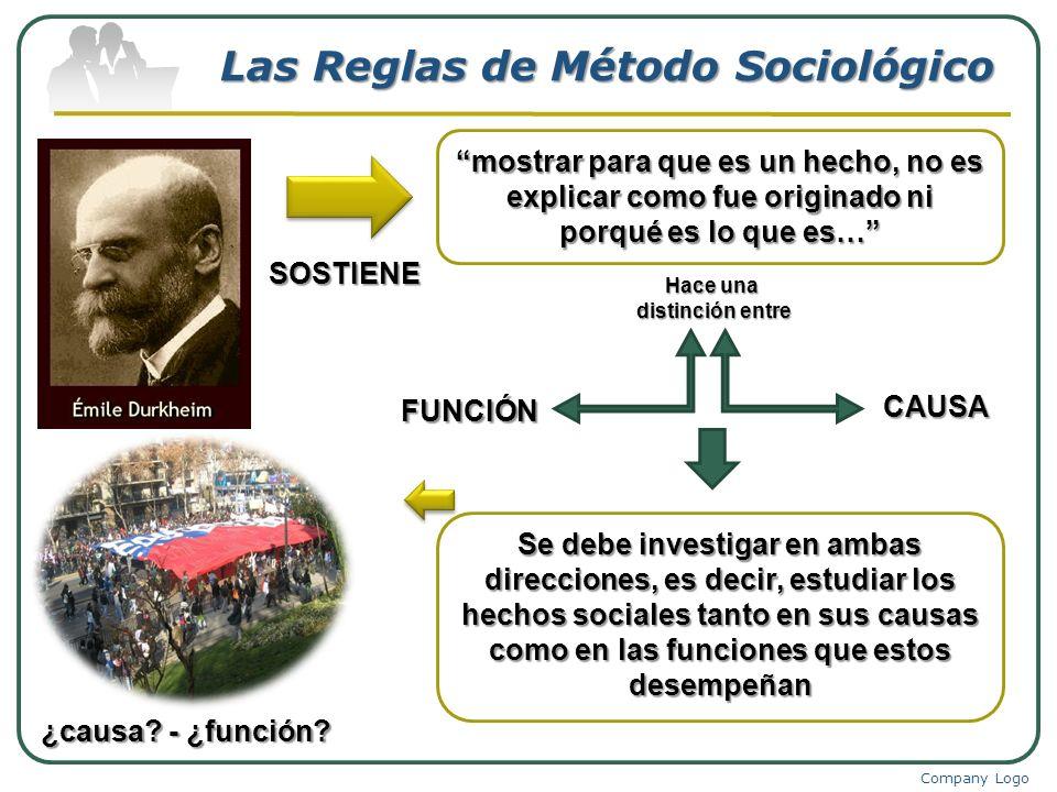 Las Reglas de Método Sociológico
