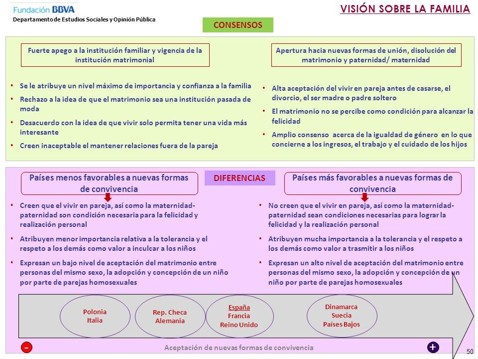 - + VISIÓN SOBRE LA FAMILIA CONSENSOS