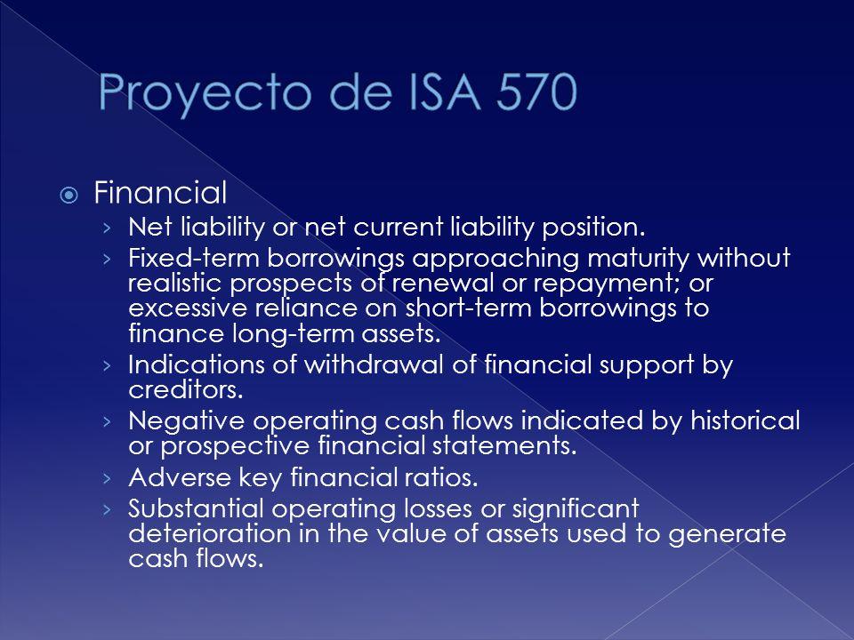 Proyecto de ISA 570 Financial