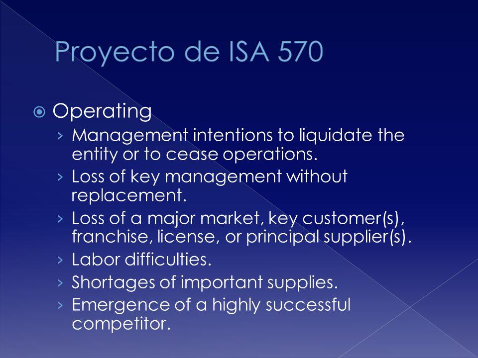 Proyecto de ISA 570 Operating