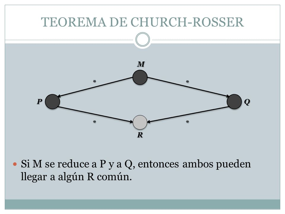 TEOREMA DE CHURCH-ROSSER